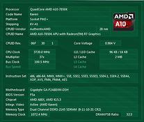 AMD CPUID panel