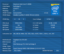 Intel CPUID panel