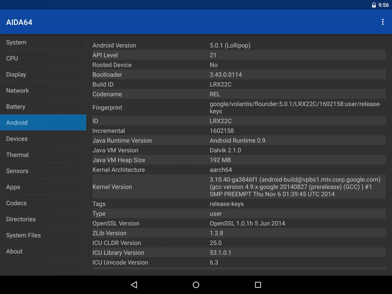 AIDA64 for Android   AIDA64
